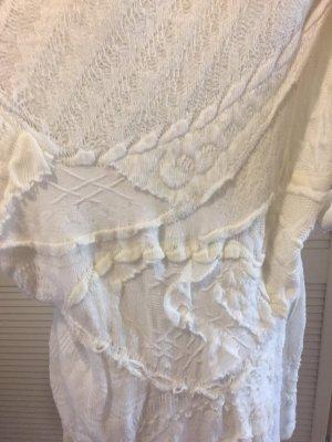 Stefanel Kleid-Pullover  in weiß