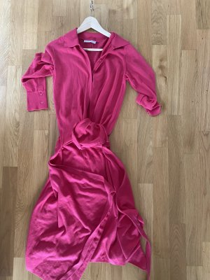Stefanel Vestido cruzado rojo frambuesa-magenta