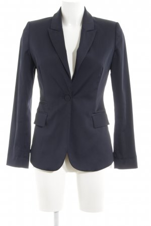 Stefanel Kurz-Blazer hellgrau Business-Look