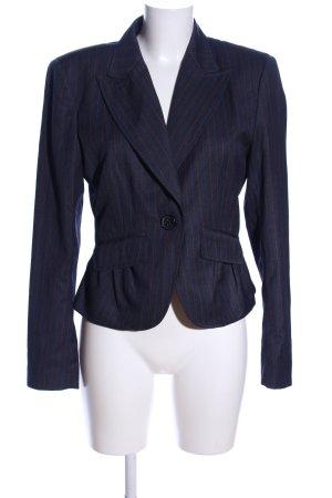 Stefanel Korte blazer blauw gestreept patroon casual uitstraling