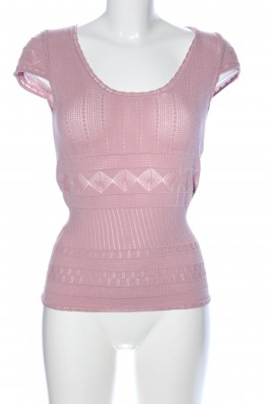 Stefanel Kurzarm-Bluse pink Casual-Look