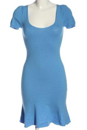 Stefanel Kurzarmkleid blau Casual-Look