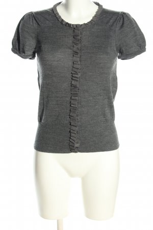 Stefanel Short Sleeve Knitted Jacket light grey flecked casual look