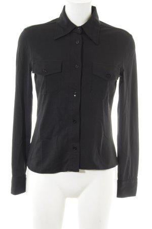Stefanel Langarm-Bluse schwarz Elegant