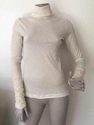 Stefanel Turtleneck Shirt natural white-cream cotton