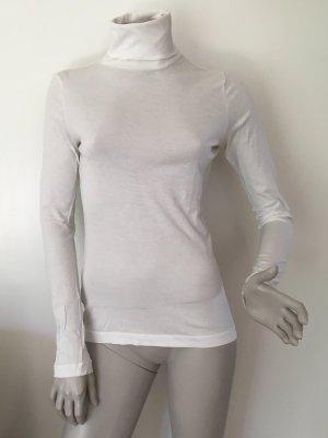 Stefanel Camisa de cuello de tortuga blanco Algodón