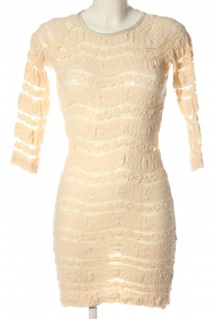 Stefanel Vestido de manga larga crema elegante