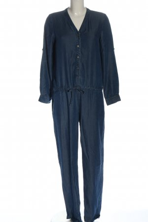 Stefanel Langer Jumpsuit azul look casual