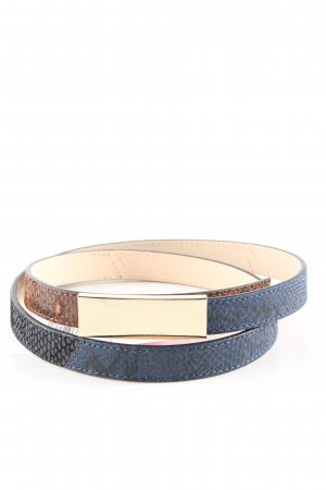 Stefanel Leather Belt blue-brown animal pattern elegant