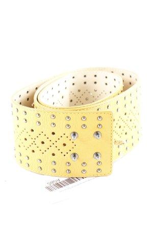 Stefanel Leather Belt gold orange leather