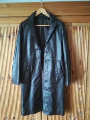 Stefanel Leather Coat dark brown