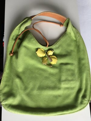 Stefanel Ledertasche Grün
