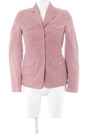 Stefanel Lange blazer roze-stoffig roze simpele stijl