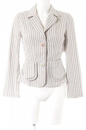 Stefanel Long-Blazer Streifenmuster Business-Look