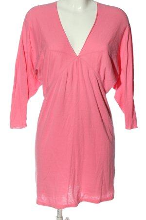 Stefanel Długi sweter różowy W stylu casual