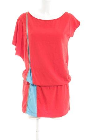 Stefanel Longshirt rot-blau Casual-Look