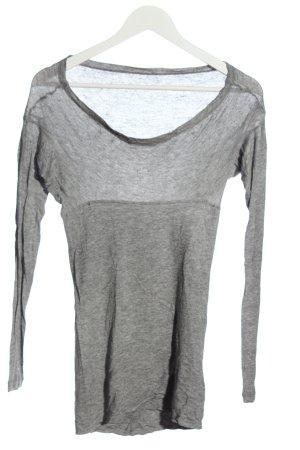 Stefanel Longsleeve light grey flecked casual look