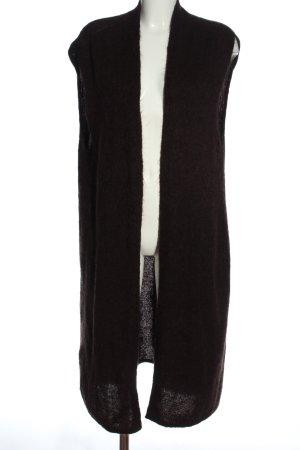 Stefanel Cardigan lungo smanicato marrone stile casual