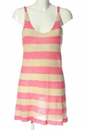 Stefanel Longtop pink-creme Streifenmuster Casual-Look