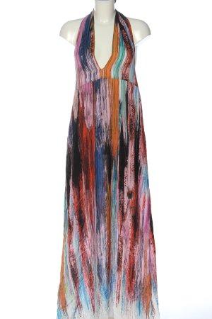 Stefanel Vestido largo estampado con diseño abstracto look casual