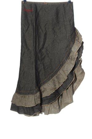 Stefanel Gonna asimmetrica cachi-grigio chiaro stile casual