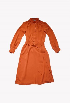 Stefanel Robe mi-longue orange fluo polyester