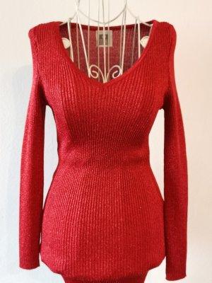 STEFANEL Mini Kleid Rot Glitter