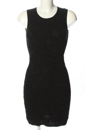 Stefanel Minikleid schwarz Allover-Druck Elegant
