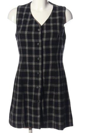 Stefanel Minikleid schwarz-weiß Allover-Druck Casual-Look