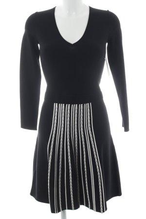 Stefanel Minikleid schwarz-weiß Casual-Look