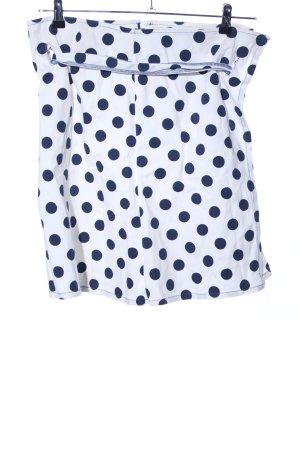Stefanel Minirock weiß-blau Punktemuster Casual-Look