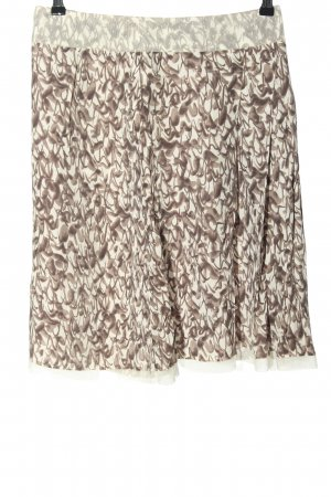 Stefanel Miniskirt natural white-brown abstract pattern casual look