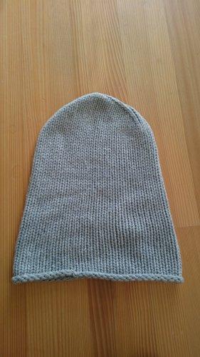 Stefanel Mütze grau Wolle+ Kaschmir Cashmere
