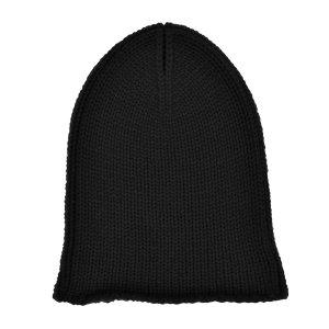 Stefanel Knitted Hat black cashmere