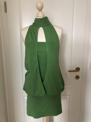 Stefanel Neckholder Kleid grün
