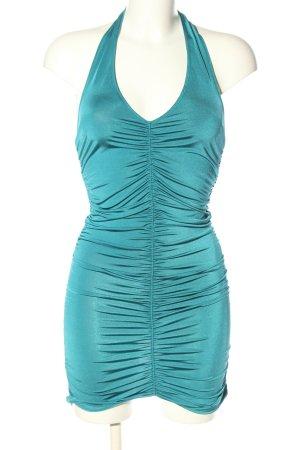 Stefanel Halter Dress turquoise casual look