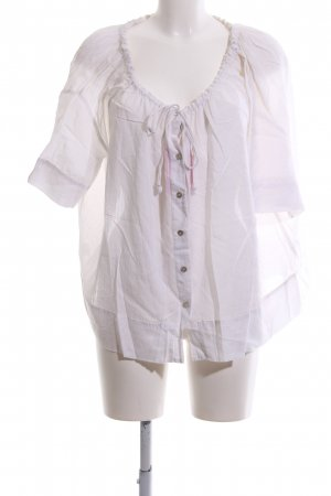 Stefanel Oversized Bluse weiß Casual-Look