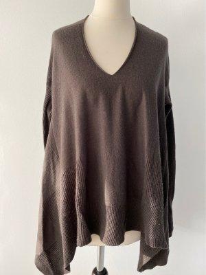Stefanel Oversized Sweater black brown wool