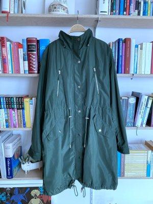Stefanel Between-Seasons-Coat forest green polyester
