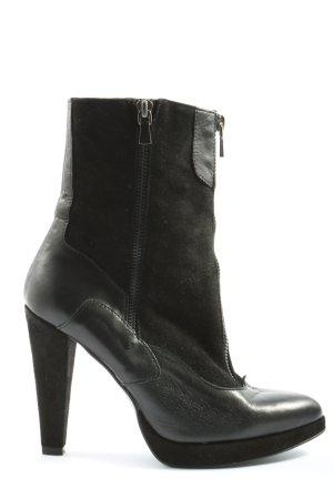 Stefanel Plateau-Stiefeletten schwarz Casual-Look