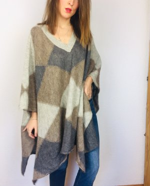Stefanel Poncho Pullover wolle Strick