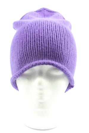 Stefanel Bobble Hat lilac casual look