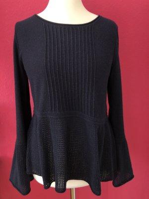 Stefanel Pulli aus dunkelblauer Wolle