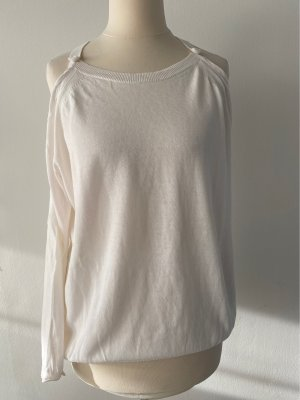 Stefanel Fine Knit Jumper natural white cotton