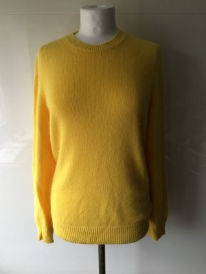 Stefanel Pullover Wolle in gelb sonnengelb