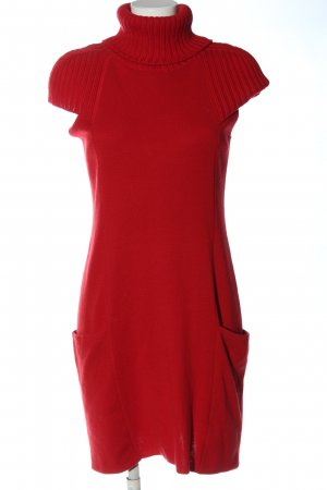 Stefanel Sweater Dress red casual look