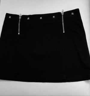 Stefanel Miniskirt black cotton