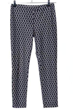 Stefanel Pantalón de tubo negro-blanco look casual