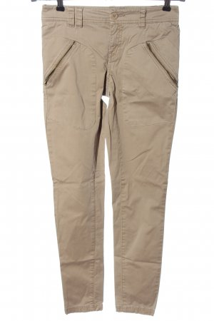 Stefanel Drainpipe Trousers nude casual look