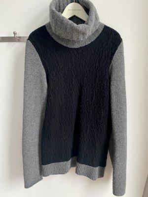 Stefanel rollkragen pullover schwarz grau gr 36